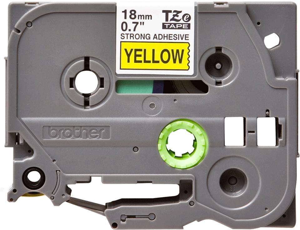 Eredeti Brother TZe-S641 P-touch -Sárga alapon fekete, 18mm széles szalag