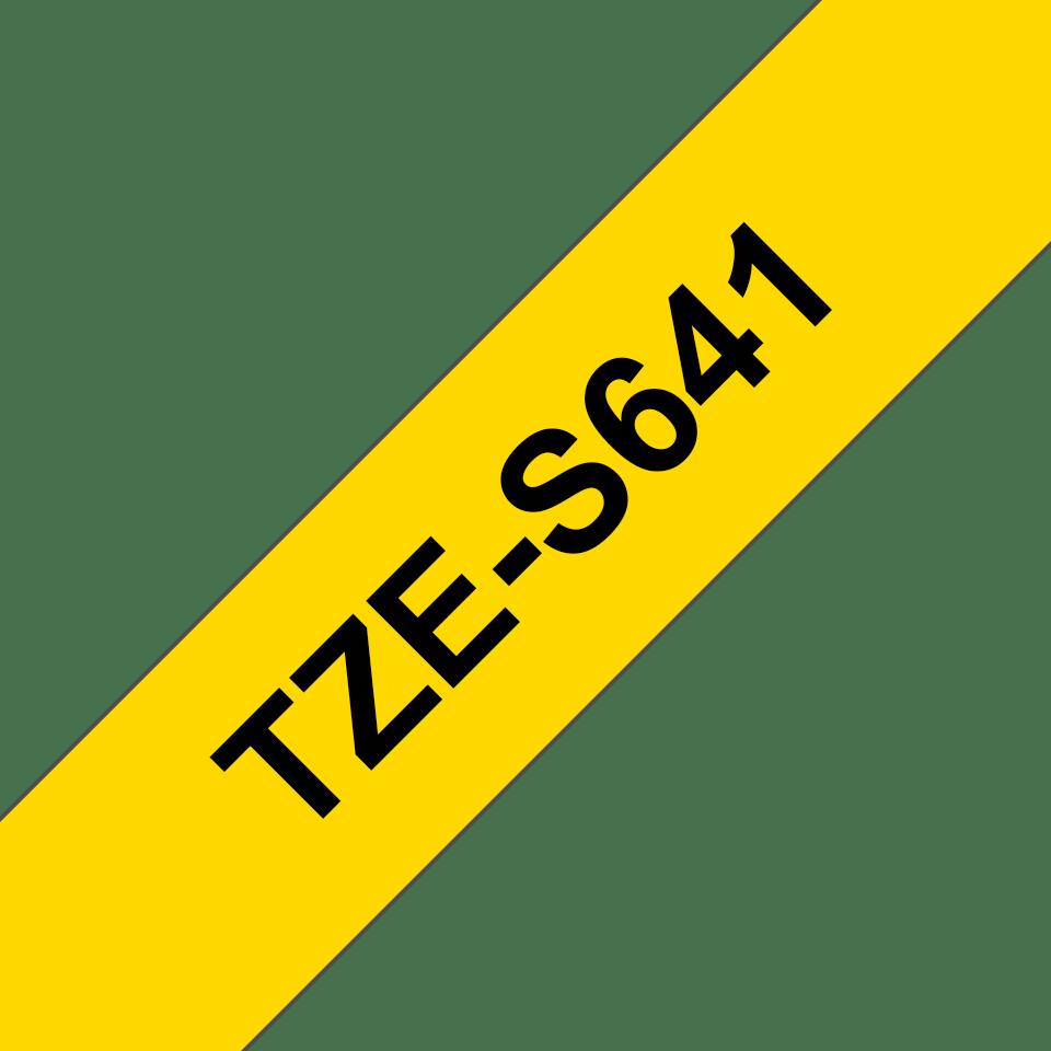 Eredeti Brother TZe-S641 P-touch -Sárga alapon fekete, 18mm széles szalag 3